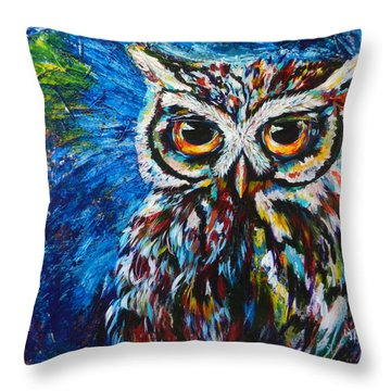 Midnite Owl Throw Pillow