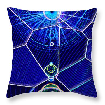 Throw Pillow featuring the mixed media Midori Sunrise by Carl Hunter