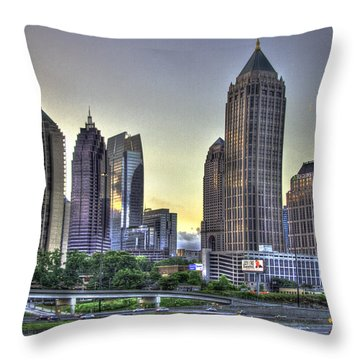 Midtown Atlanta Sunrise Throw Pillow