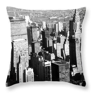 Midtown Manhattan 1972 Throw Pillow