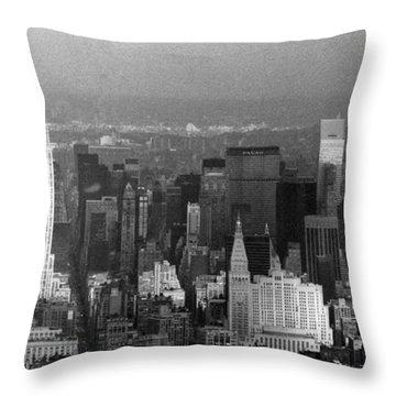 Midtown Manhattan 1980s Throw Pillow by Gary Eason