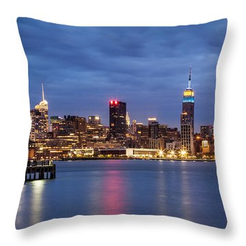 Throw Pillow featuring the photograph Midtown Manhattan by Mihai Andritoiu