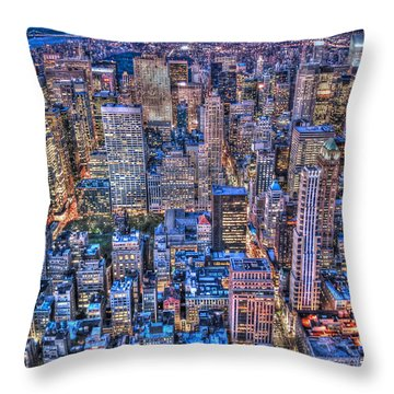 Midtown Manhattan Skyline Throw Pillow by Randy Aveille