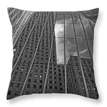 Midtown Reflections Throw Pillow by Mike Martin