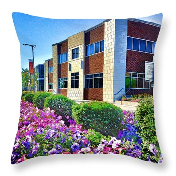 Throw Pillow featuring the photograph Geis Midtown Tech Park - Cleveland Ohio by Mark Madere