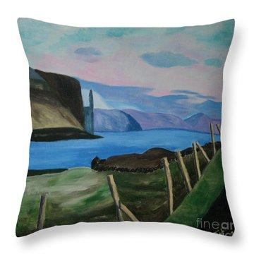 Throw Pillow featuring the painting Midvogur Vaagoe by Susanne Baumann