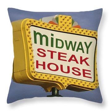 Midway Seaside Heights Boardwalk Nj Throw Pillow