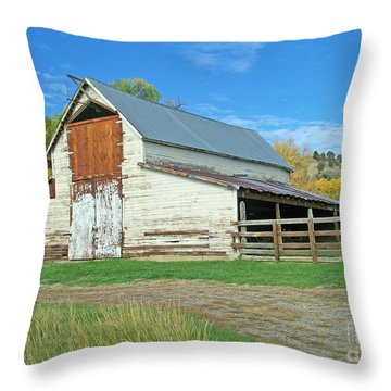 Midway Vintage Barn Hotchkiss Co Throw Pillow