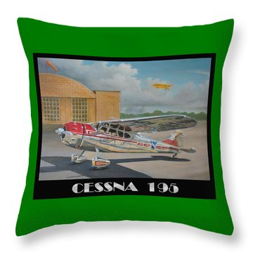 Midwest Airlines Cessna 195 Throw Pillow