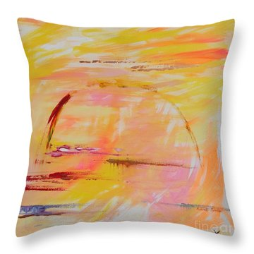 Midwest Sunrise Throw Pillow by PainterArtist FIN