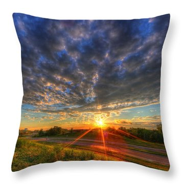 Midwest Sunset After A Storm Throw Pillow