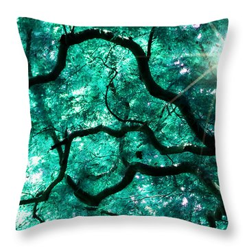 Throw Pillow featuring the photograph Mighty Branches by Cindy Greenstein