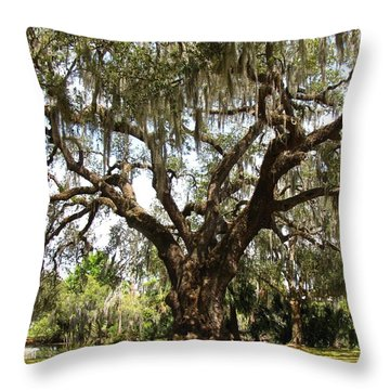 Throw Pillow featuring the photograph Mighty Oak by Beth Vincent