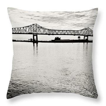 Mighty River Throw Pillow by Scott Pellegrin