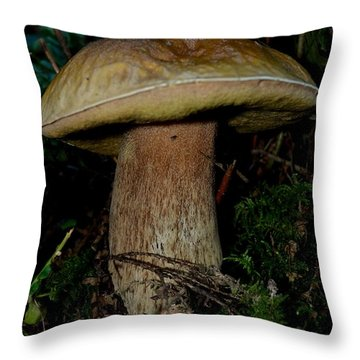 Mighty Toadstool Throw Pillow