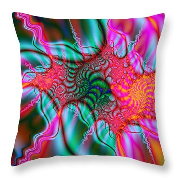 Throw Pillow featuring the digital art Migraine by Elizabeth McTaggart