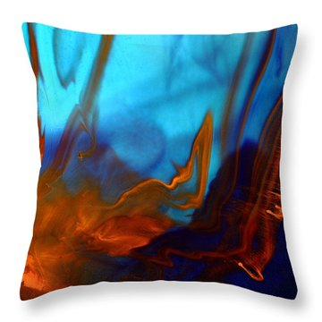 Migration - Contemporary Fluid Abstract Art By Kredart Throw Pillow