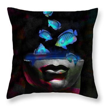 Throw Pillow featuring the digital art Migration by Galen Valle