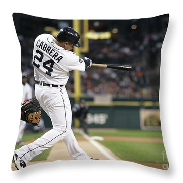 Miguel Cabrera Throw Pillow by Marvin Blaine