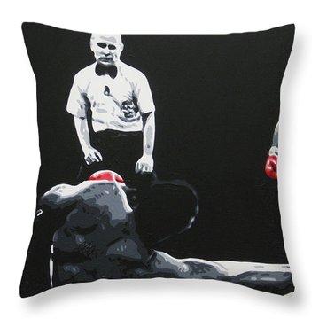 Mike Tyson 3 Throw Pillow
