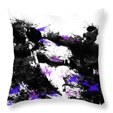 Mike Tyson Throw Pillow by Bekim Art