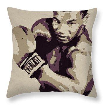 Mike Tyson Poster Art Throw Pillow by Florian Rodarte