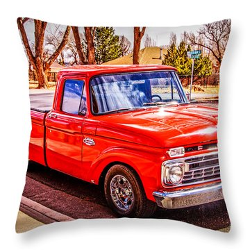 Mike's 66 Throw Pillow by Bob and Nancy Kendrick