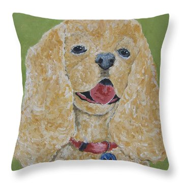 Throw Pillow featuring the painting Mikey by Suzanne Theis