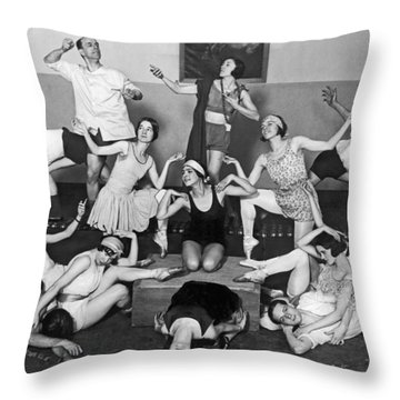 Mikhail Mordkin And Students Throw Pillow by Underwood Archives