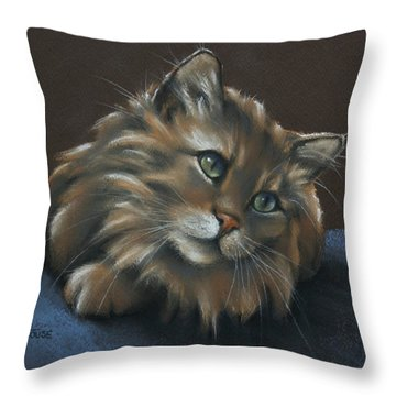 Throw Pillow featuring the drawing Miko by Cynthia House