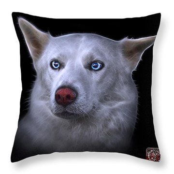 Mila - Siberian Husky - 2103 - Bb Throw Pillow by James Ahn
