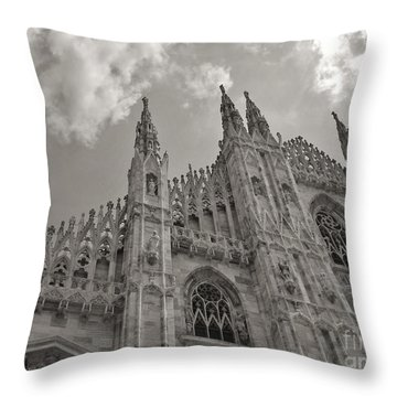 Milan Duomo Throw Pillow