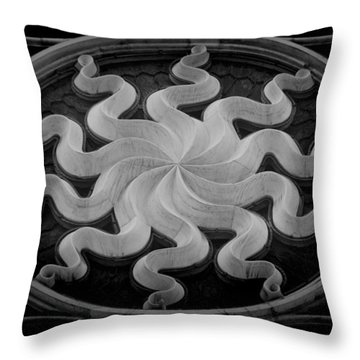 Throw Pillow featuring the photograph Milan Duomo Tracery by Nigel Fletcher-Jones