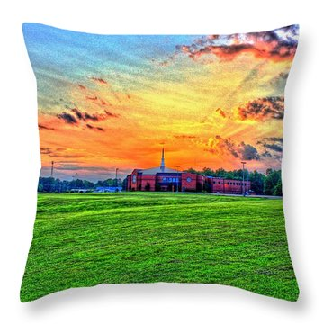 Milan First United Methodist Church Throw Pillow
