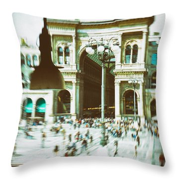 Throw Pillow featuring the photograph Milan Gallery by Silvia Ganora