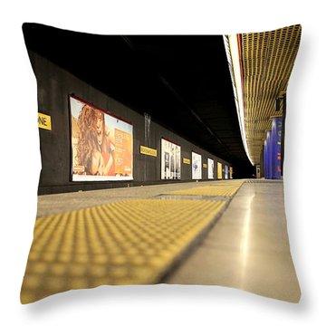 Milan Subway Station Throw Pillow by Valentino Visentini