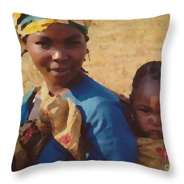 Milawi Mother And Child Throw Pillow