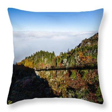 Mile High Bridge Throw Pillow by John Haldane