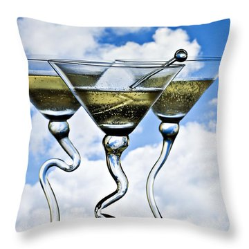 Throw Pillow featuring the photograph Mile High Club by Linda Blair