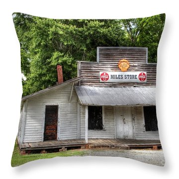 Miles Country Store Throw Pillow by Benanne Stiens