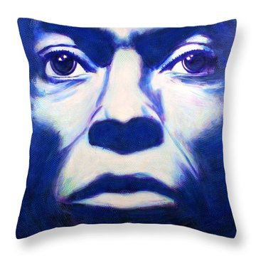 Miles Davis Tutu Album Cover Throw Pillow by Bob Baker