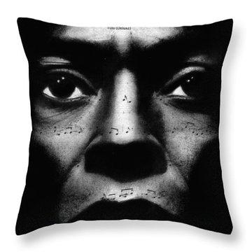 Miles Davis Tutu Throw Pillow