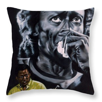Throw Pillow featuring the painting More Miles Of Davis by Thomas J Herring