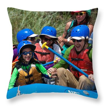 Miles Of Smiles Throw Pillow
