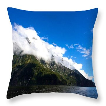 Throw Pillow featuring the photograph Milford Sound #2 by Stuart Litoff