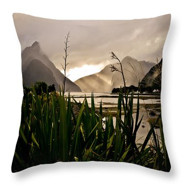 Throw Pillow featuring the photograph Milford Sound by Chris Cousins