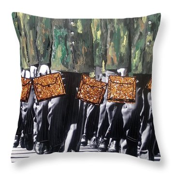 Military Attache Throw Pillow