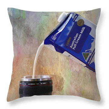 Throw Pillow featuring the photograph Milk 001 by Kevin Chippindall