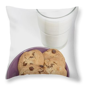 Milk And Cookies Throw Pillow by Greenwood GNP
