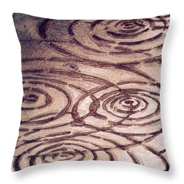 Milk Chocolate Ripples Throw Pillow